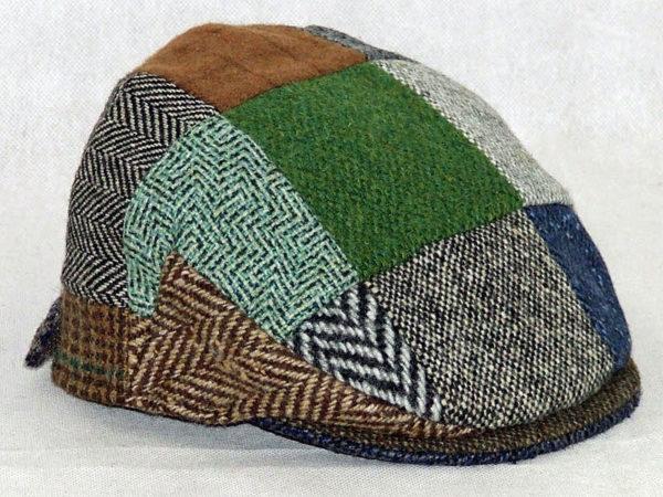 Hanna Hats Patchwork Tweed Childrens Cap