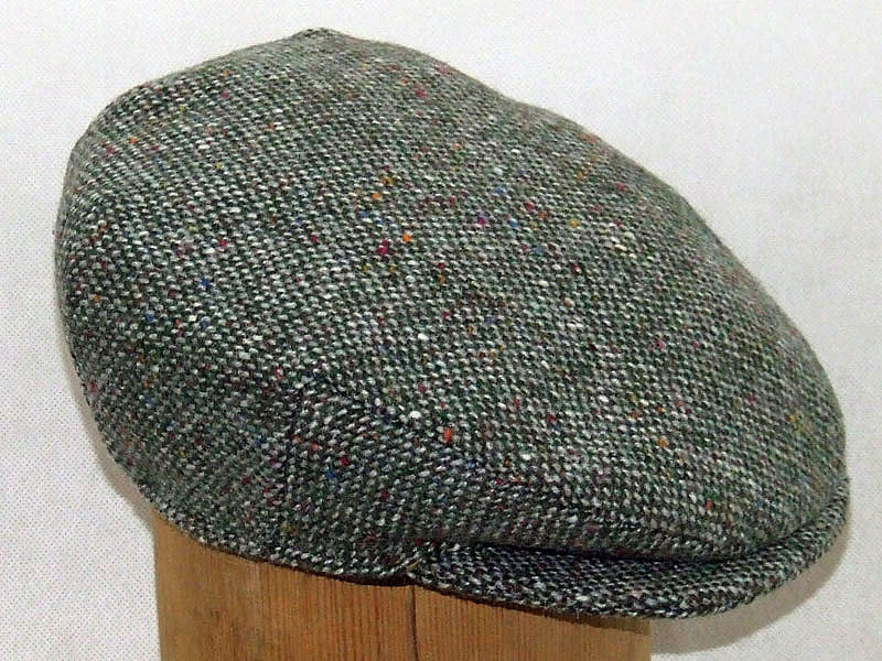 Hanna Hats Plain Tweed Cap