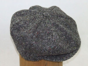 Hanna Hats Plain Tweed Eight Piece Cap