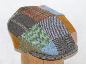 Hanna Hats Tweed Patchwork Cap