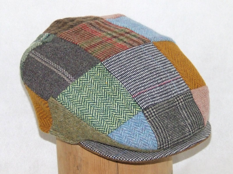Hanna Hats Tweed Patchwork Cap