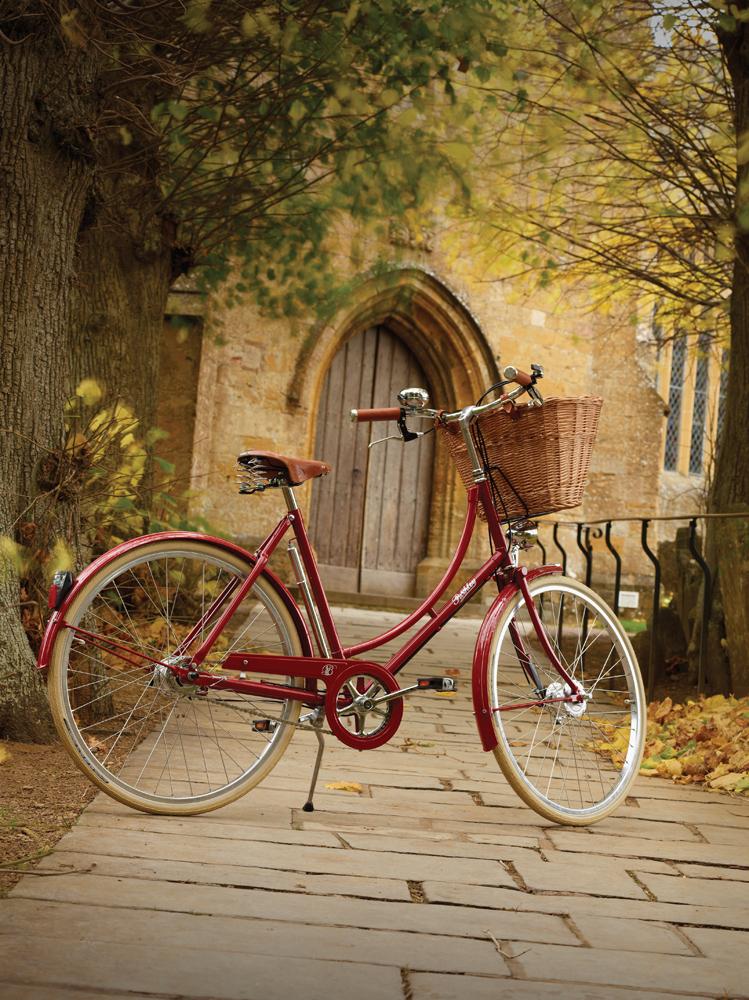Pashley Britannia naisten pyörä - punainen