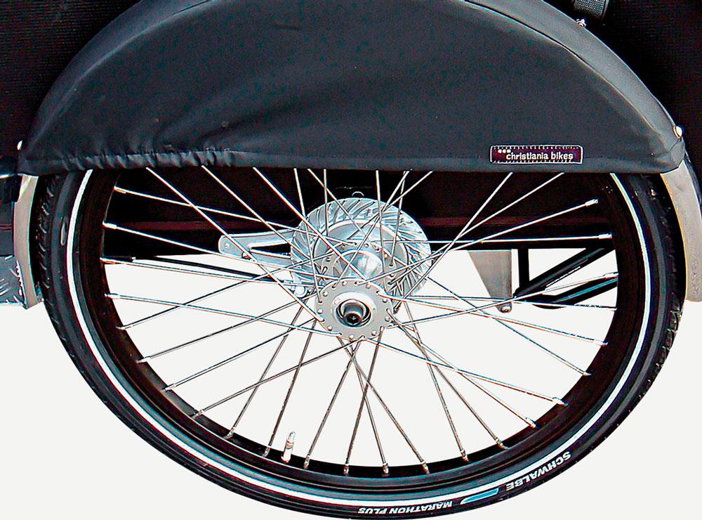 Christiania bike pyörän eturenkaiden suojus