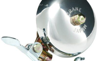 Crane Mini Suzu soittokello – Kiiltävä hopea