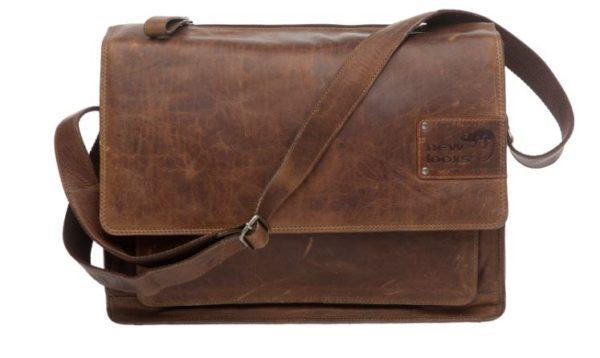 New Looxs Barolo lähettilaukku / tavaratelineen laukku nahkaa - Konjakki