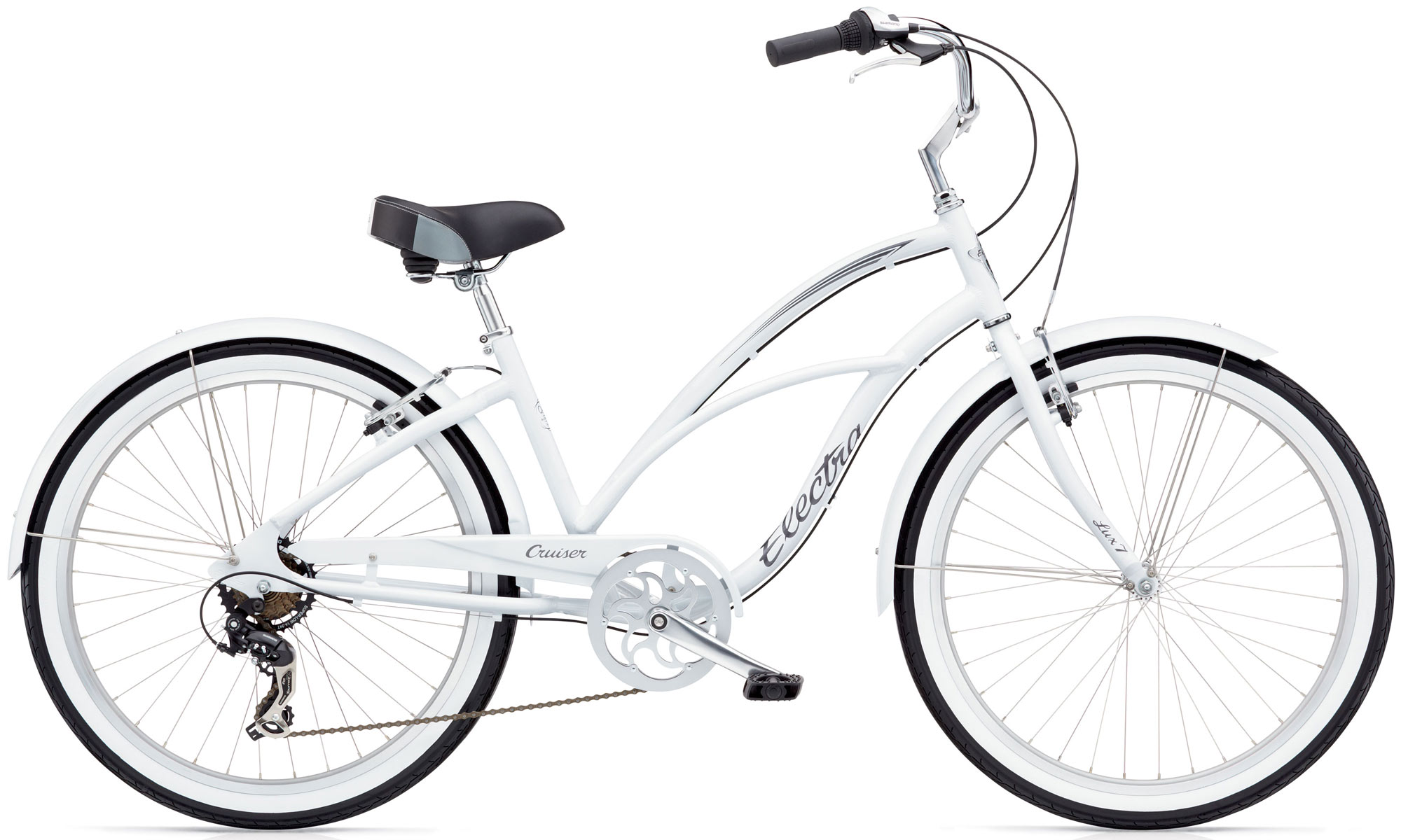 Electra Cruiser Lux 7D - Valkoinen