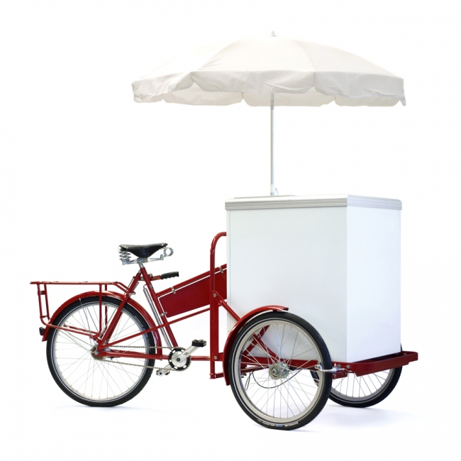 Kylmäkaappi ja pakastin pyörään - Elcold Mobilux