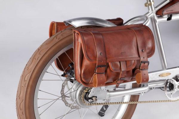Polkupyörän tavaratelineen nahkalaukku Italjet