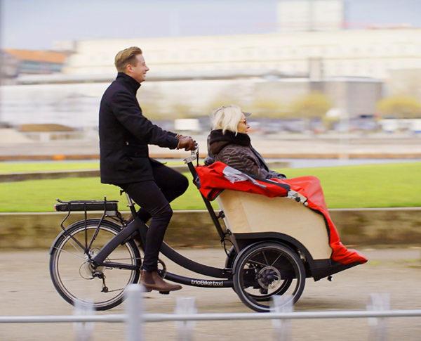 trioBike Taxi sähköavusteinen riksapyörä