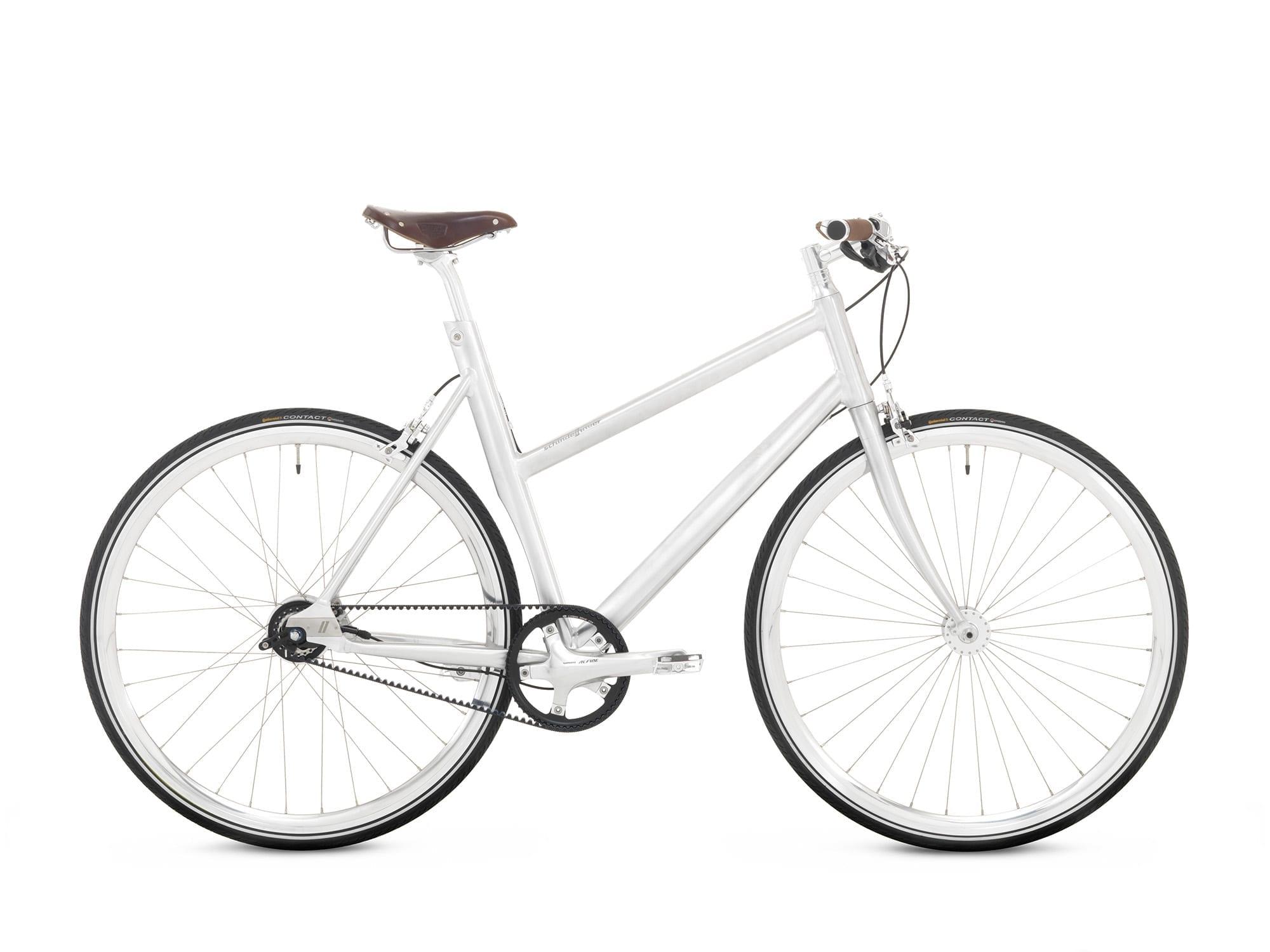Schindelhauer Lotte 8-vaihteinen naisten pyörä – Harjattu alumiini