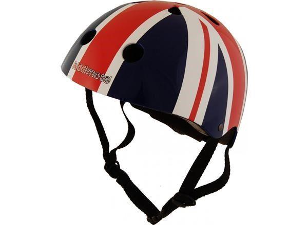 Kiddi Moto Union Jack lasten kypärä - Sininen