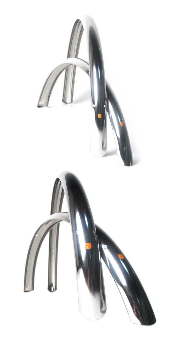 Velo Orange ATB 60mm 26″ alumiinilokasuojat – hopea