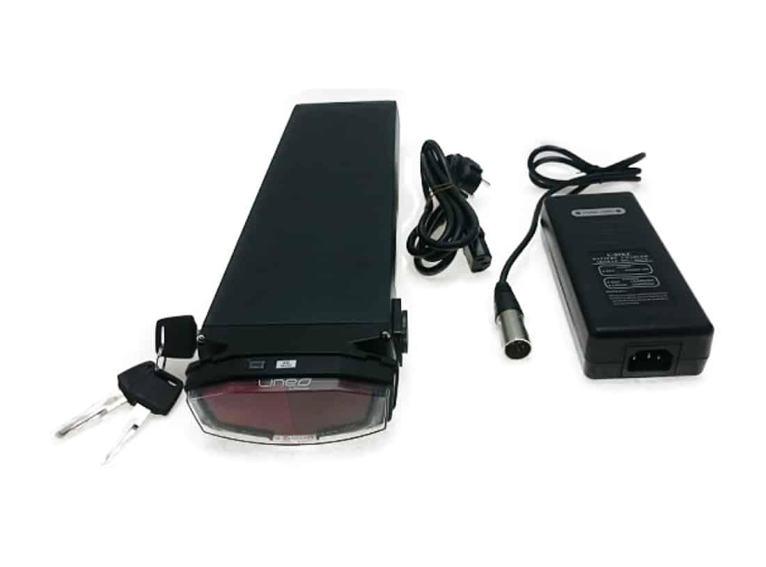 Sähköpyörän tavaratelineen akku Panasonic 36V 15,6Am