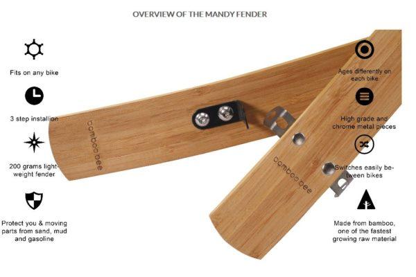Bamboobee Mandy Bamboo puiset lokasuojat - Bambua