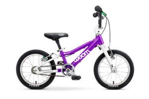 """Woom 2 lasten pyörä 14"""" - Violetti"""