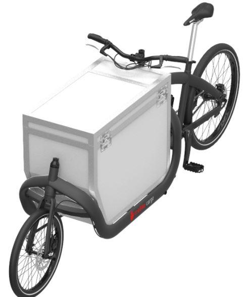 trioBike Cargo 2-renkainen laatikkopyörä