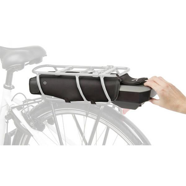 M-wave sähköpyörän akun suoja tavaratelineelle Bosch ja Shimano