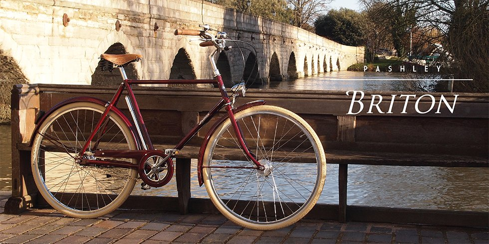 Pashley Briton miesten pyörä- Oxblood Punainen