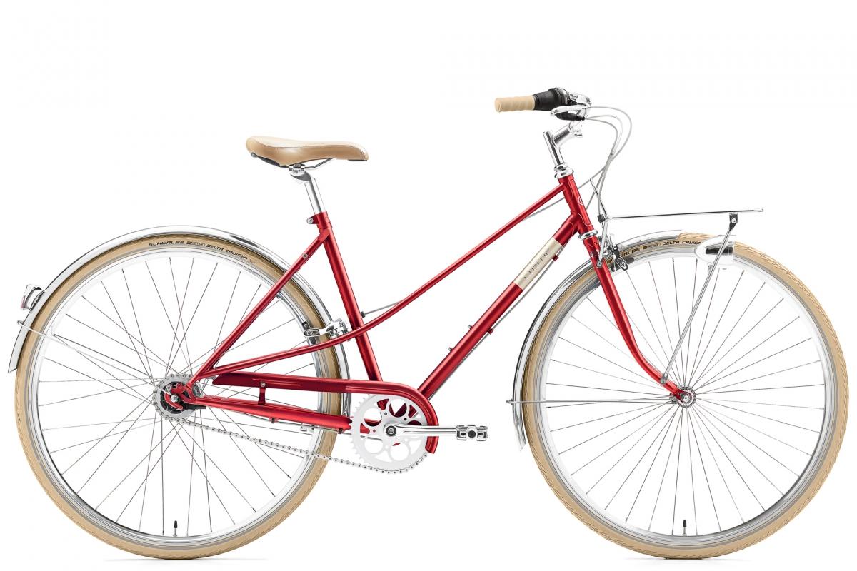 Creme Caferacer Lady Solo naisten pyörä-  punainen