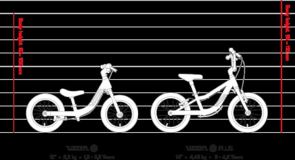 Woom 1 Plus lasten potkupyörä Punainen