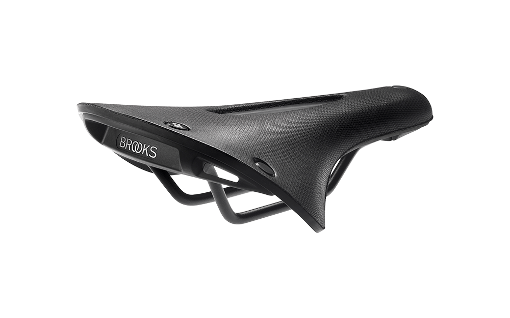 Brooks Cambium C19 carved satula - All Weather - Musta