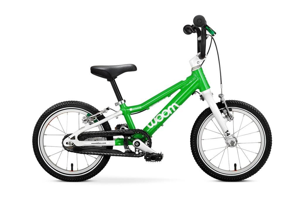 """Woom 2 lasten pyörä 14"""" - Vihreä"""