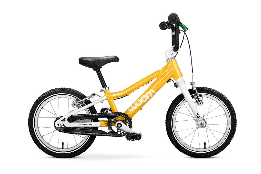 """Woom 2 lasten pyörä 14"""" -  Keltainen"""