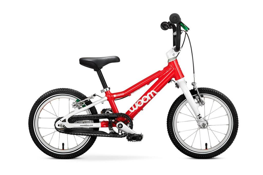 """Woom 2 lasten pyörä 14"""" -Punainen"""