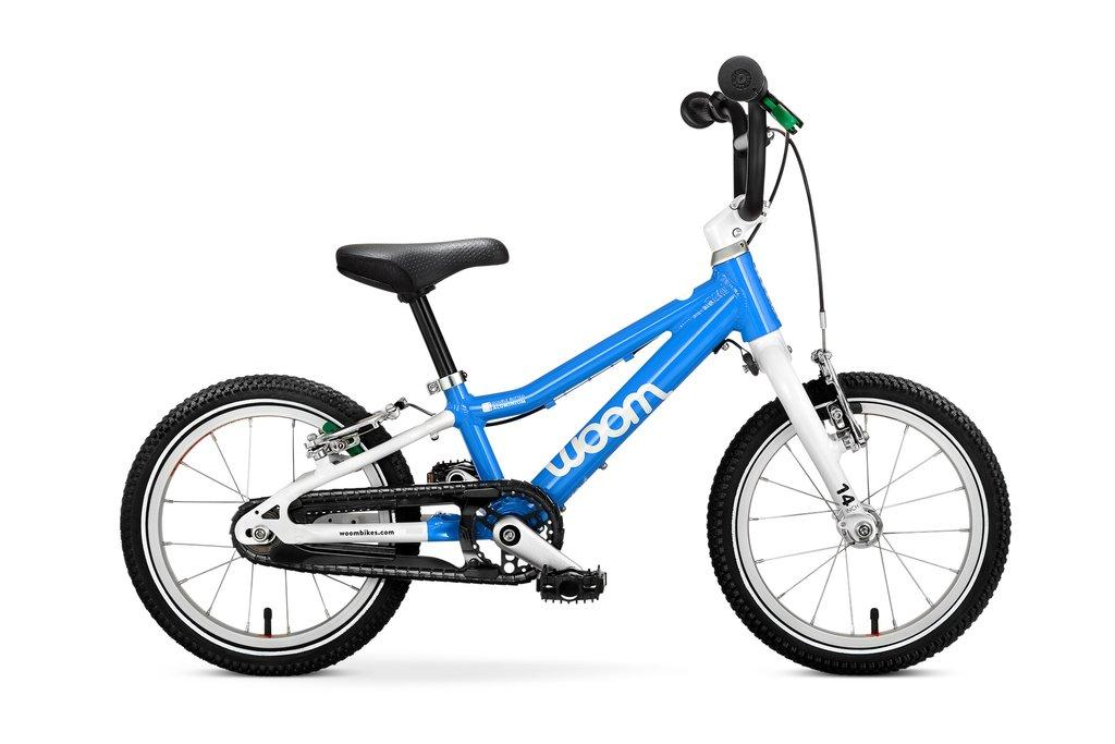 """Woom 2 lasten pyörä 14"""" - Sininen"""