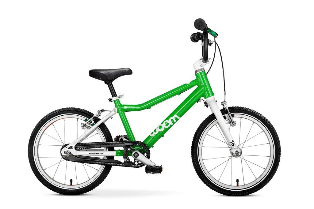 """Woom 3 lasten pyörä 16"""" - vihreä"""