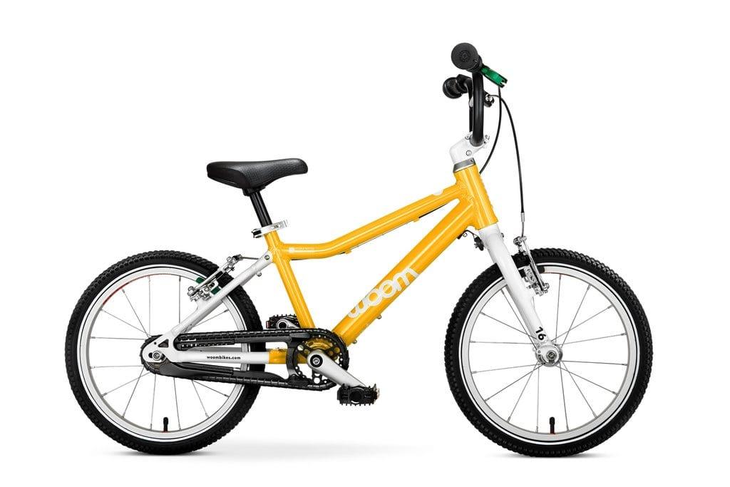 """Woom 3 lasten pyörä 16"""" - Keltainen"""