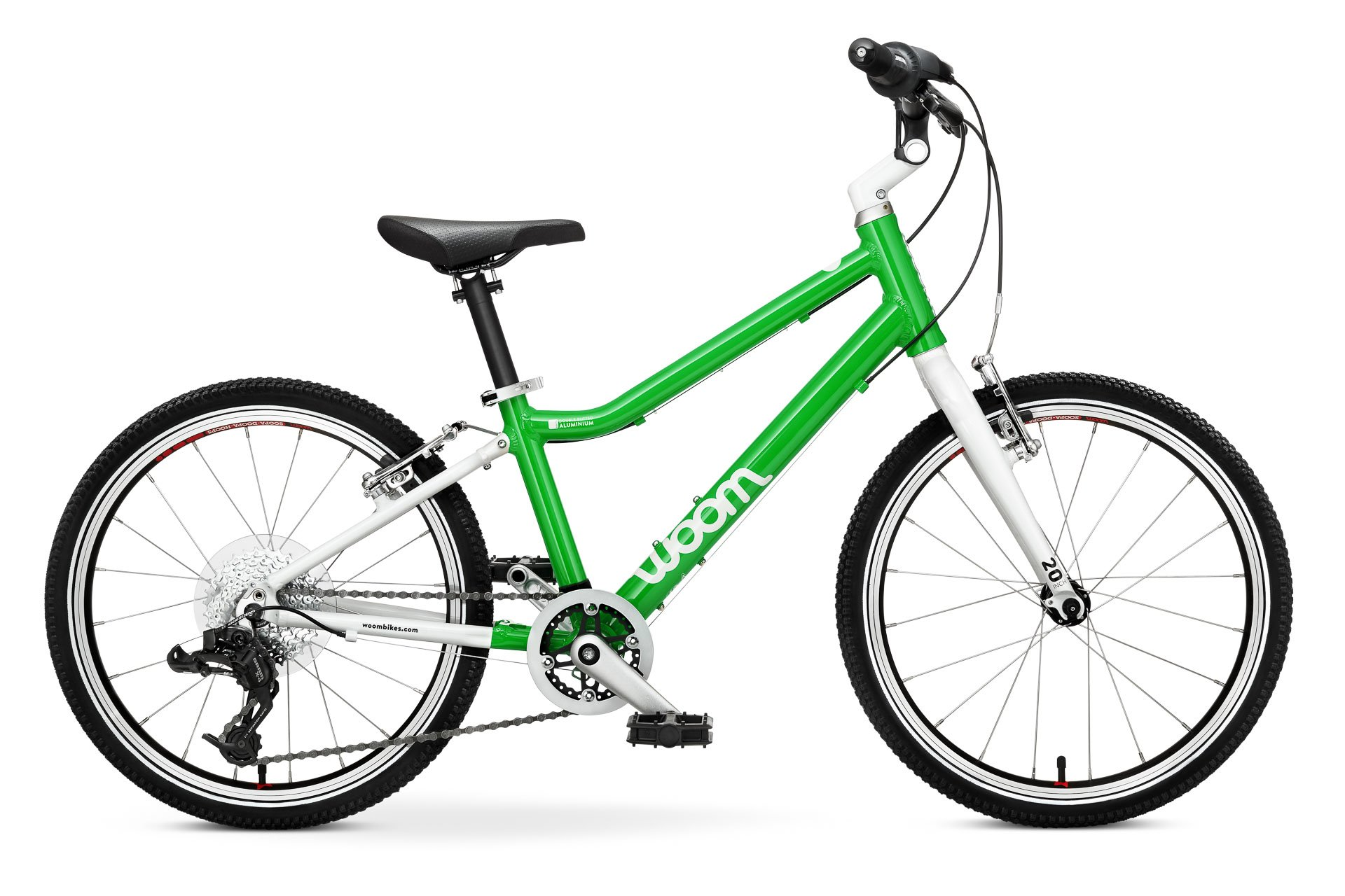"Woom 4 Kids bike with 20 ""tires-Green"