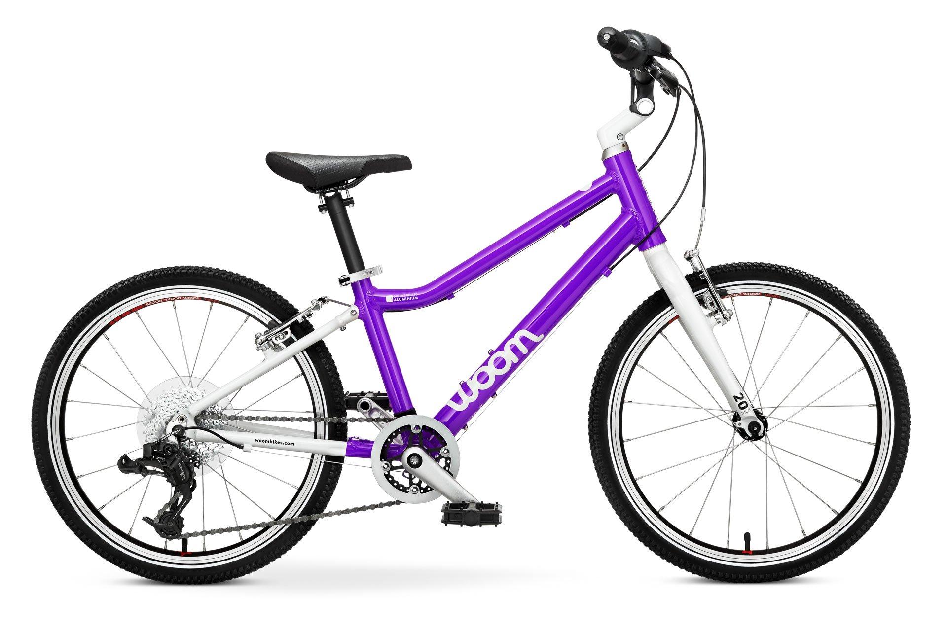 """Woom 4 lasten pyörä 20"""" renkailla - Violetti"""