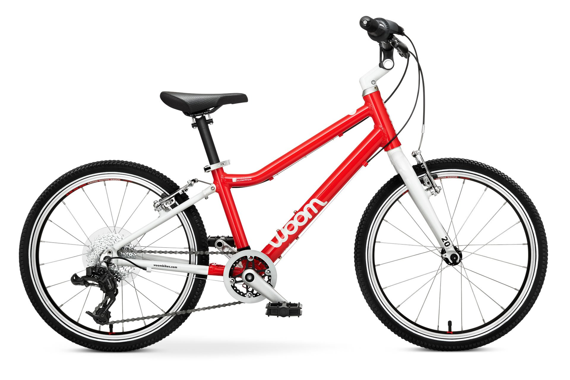 "Woom 4 Kids bike with 20 ""tires-Red"