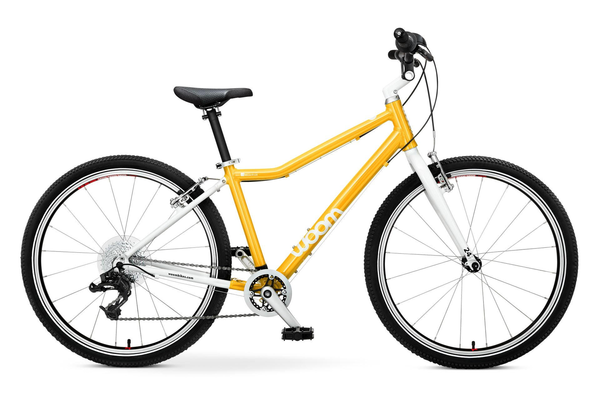 "Woom 5 Kids bike with 24 ""tires-Yellow"