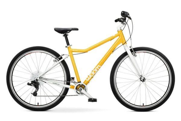 """Woom 6 pyörä 26"""" renkailla - Keltainen"""