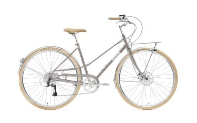 Creme Caferacer Lady Solo Disc Flat Grey 9s (S)